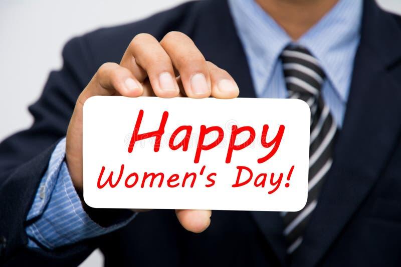 Dia das mulheres felizes foto de stock