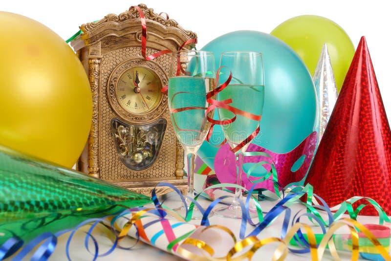 Dia de ano novo de espera fotografia de stock royalty free