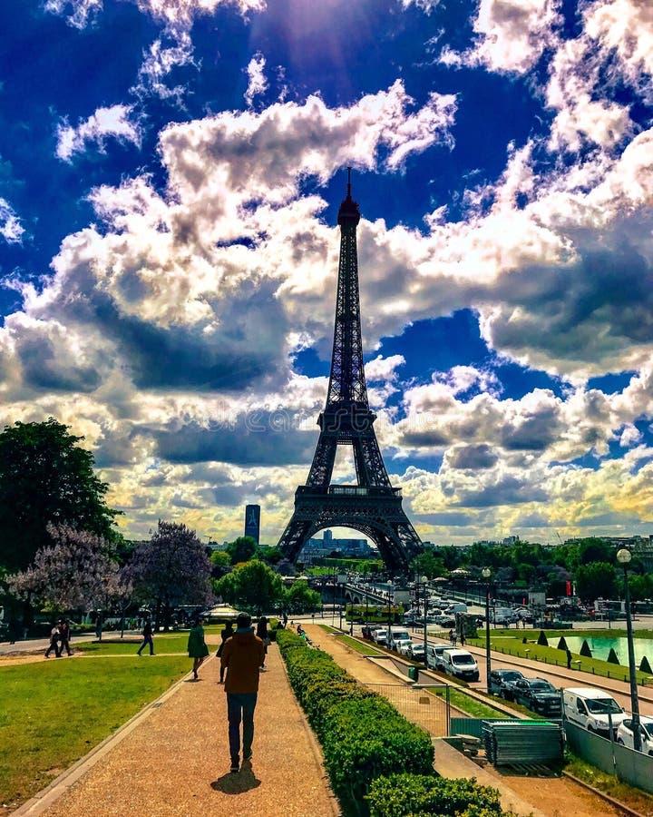 Dia de Beatifull em Paris fotografia de stock