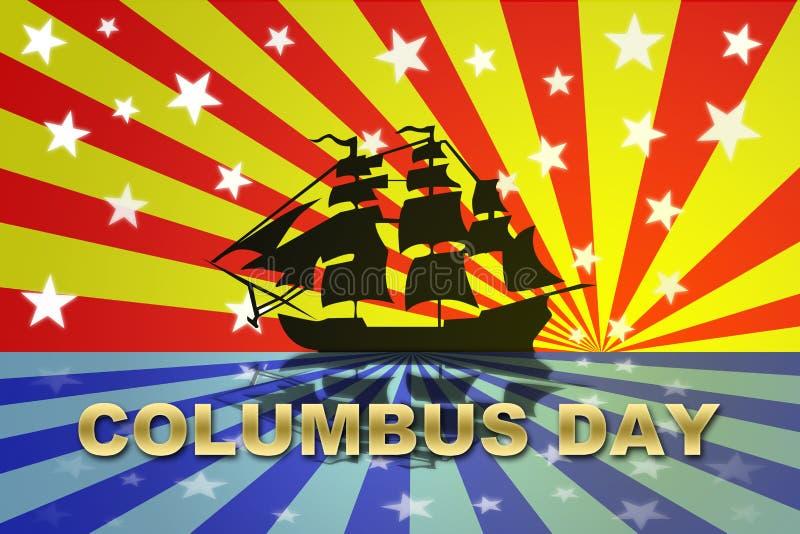 Dia de Christopher Columbo ilustração stock