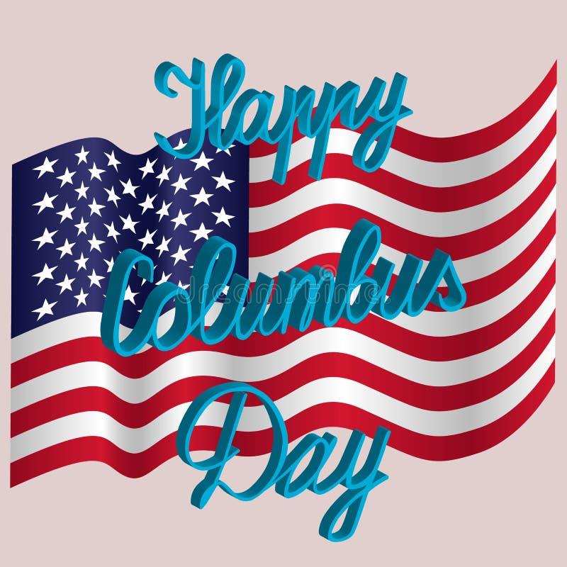 Dia de Colombo feliz ilustração royalty free