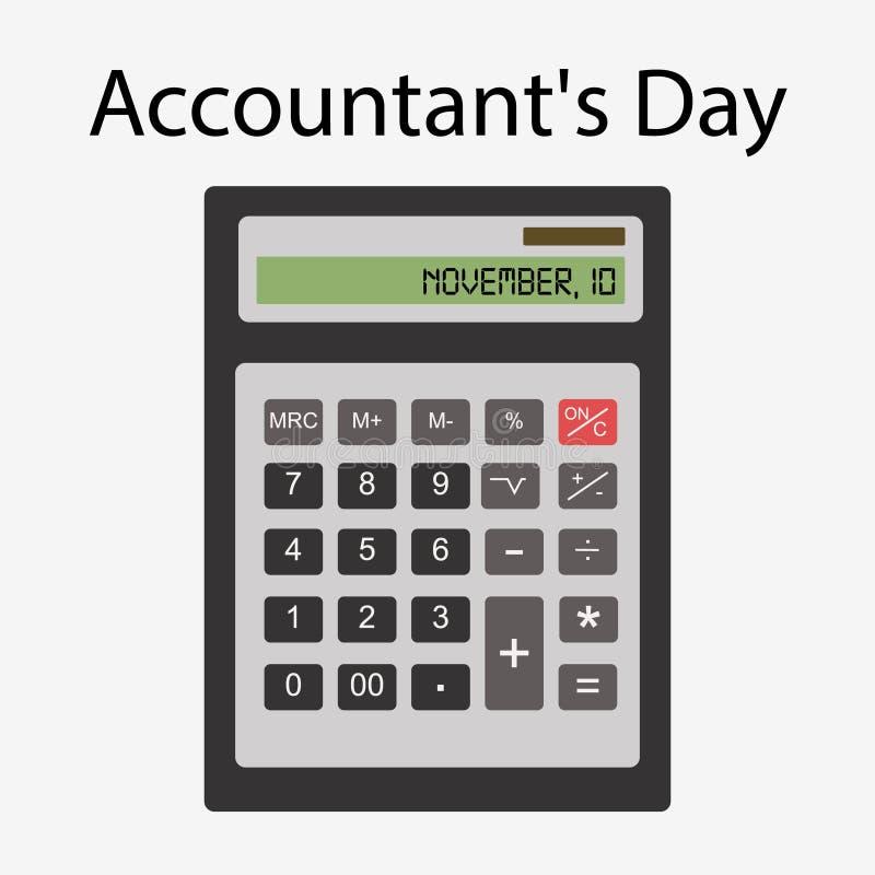 Dia de contabilidade 10 de novembro ilustração royalty free