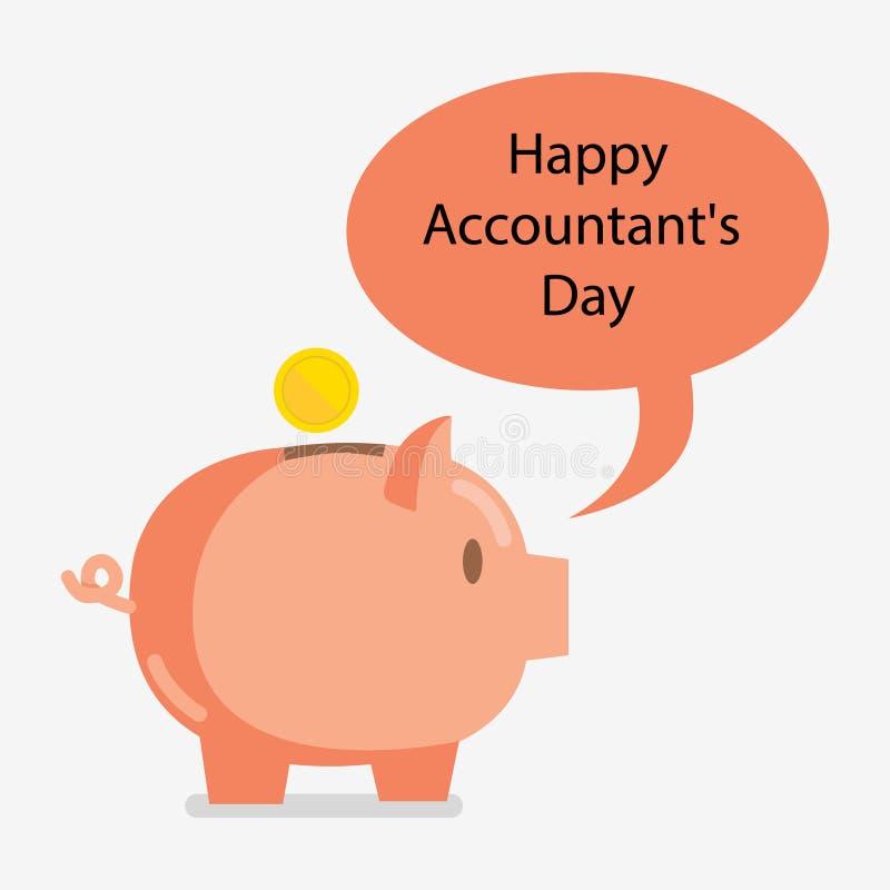 Dia de contabilidade 10 de novembro ilustração stock