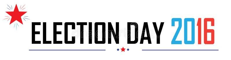 Dia de eleição ilustração do vetor