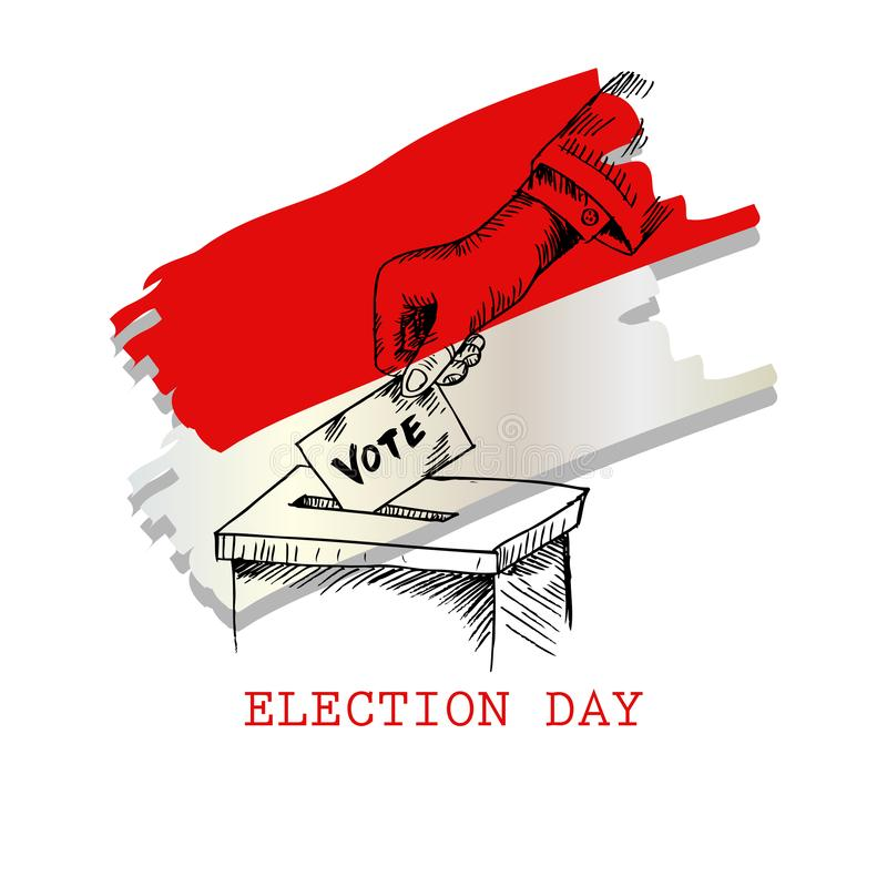 Dia de eleição em Indonésia ilustração stock