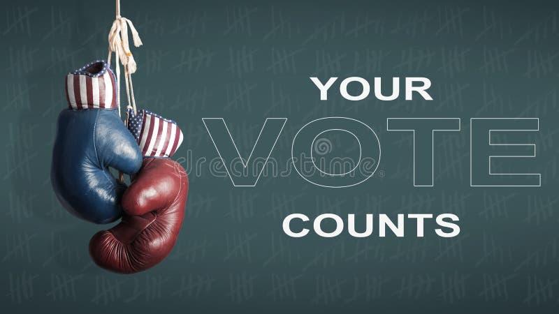 Dia de eleição presidencial 2016 imagem de stock