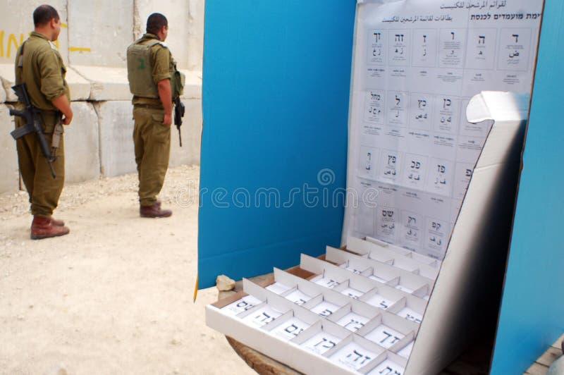 Dia de eleições parlamentares de Israels fotografia de stock