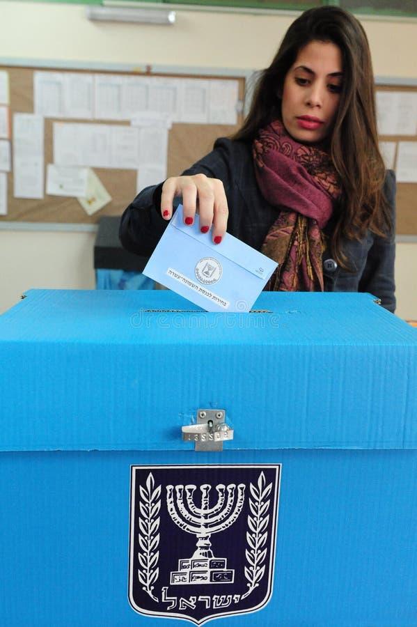 Dia de eleições parlamentares de Israels fotos de stock royalty free