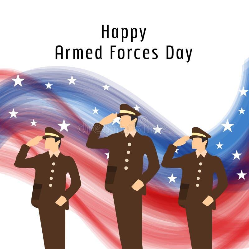 Dia de forças armadas ilustração do vetor