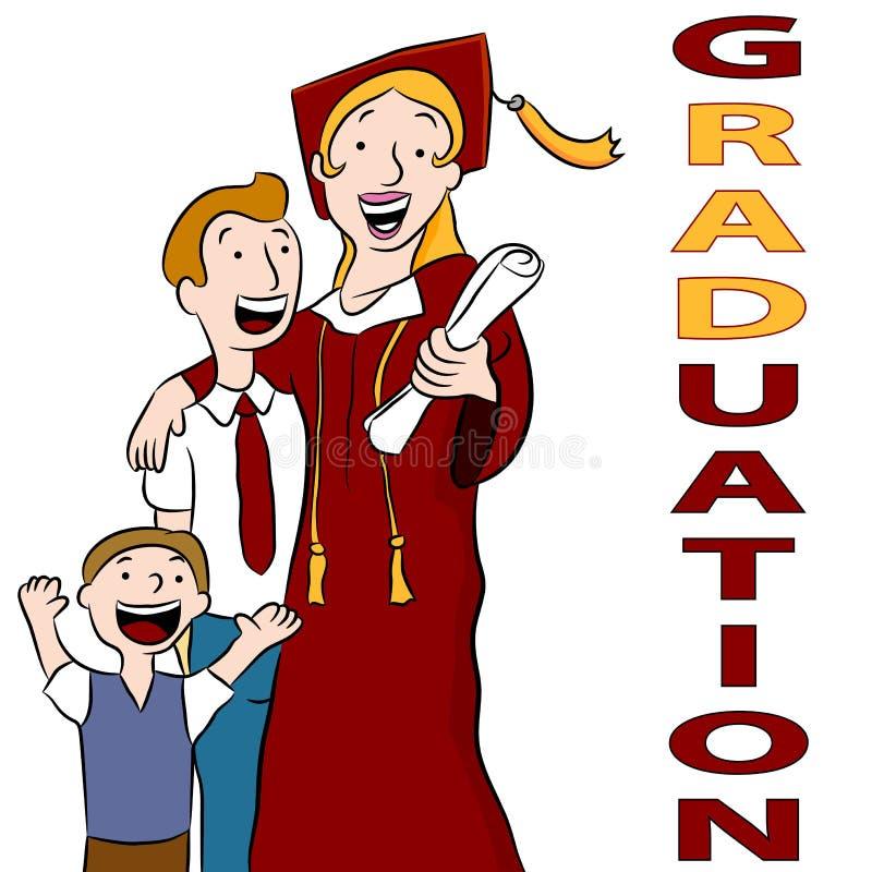 Dia de graduação da mamã ilustração do vetor