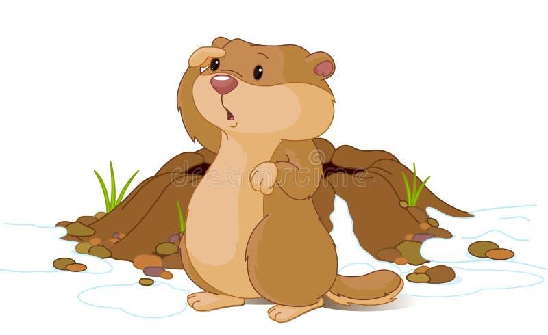 Dia de Groundhog ilustração stock