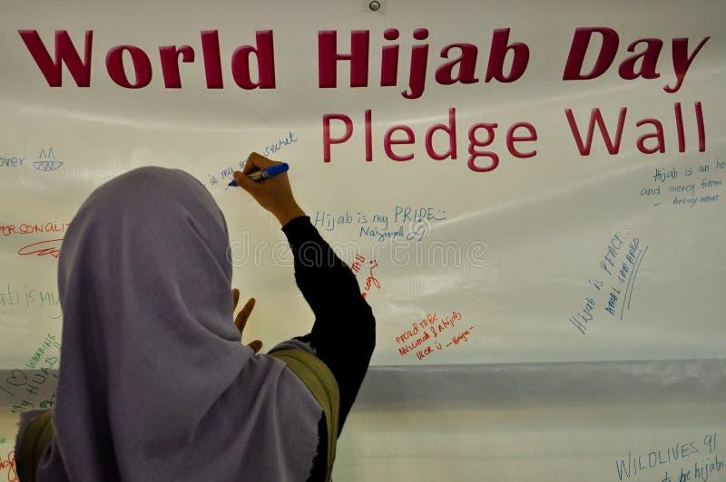 Dia de Hijab do mundo em Manila imagens de stock royalty free