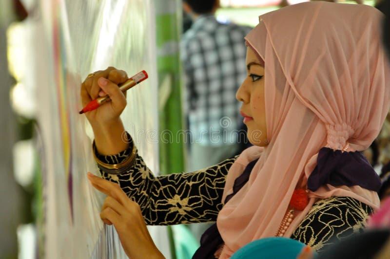 Dia de Hijab do mundo em Manila fotografia de stock