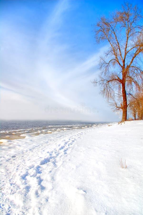 Dia de inverno ensolarado bonito foto de stock