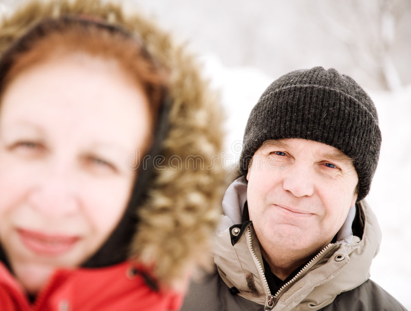 Dia de inverno feliz fotos de stock royalty free