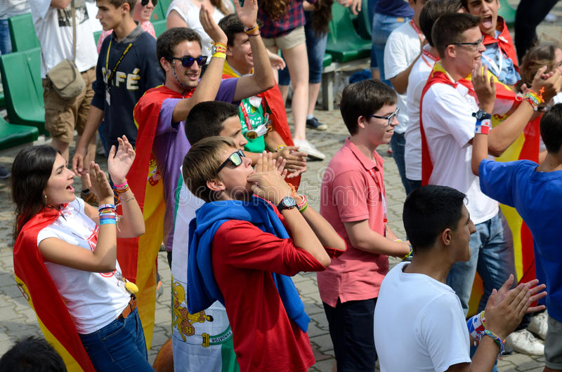 Dia de juventude de mundo 2016 em Trzebnica imagem de stock