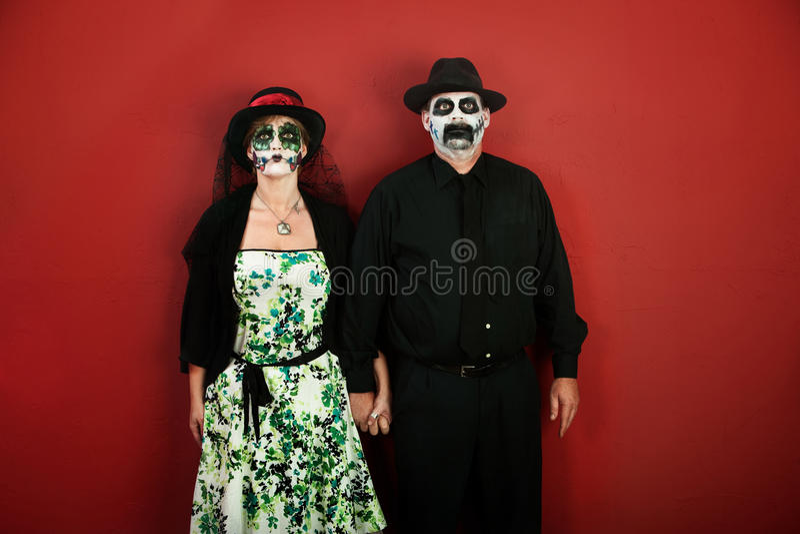 Dia de la Muertos Couple immagine stock libera da diritti
