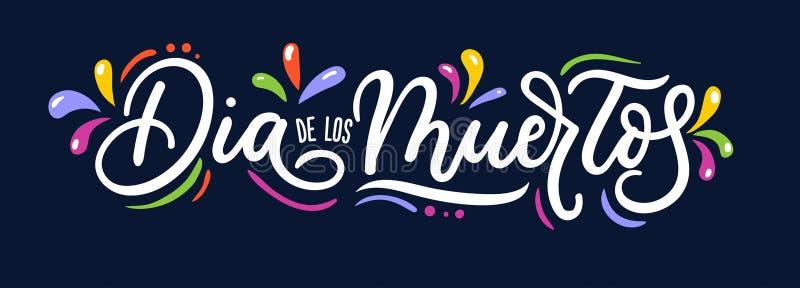 Dia de Los Muertos ευχετήρια κάρτα για την ημέρα των νεκρών Χαιρετισμός β ελεύθερη απεικόνιση δικαιώματος
