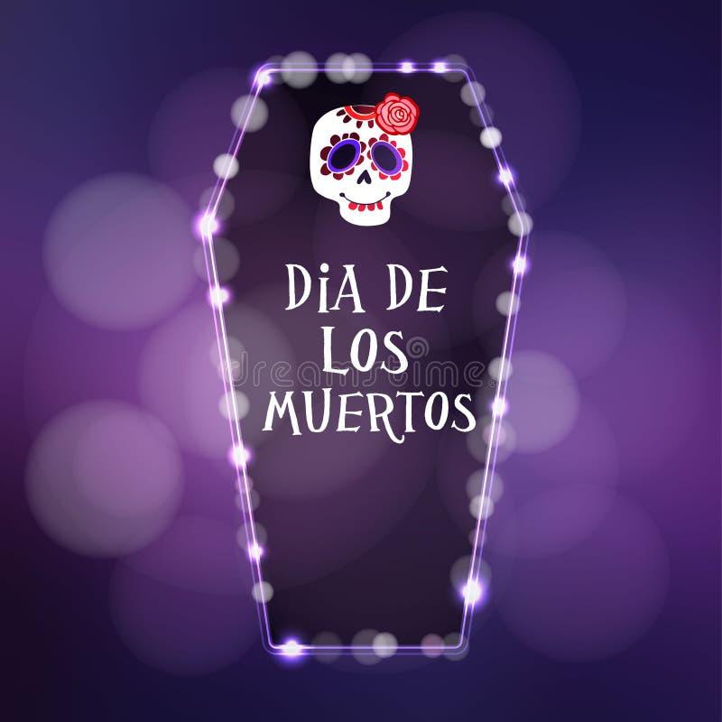 Dia de Los Muertos, Dag van de Doden stock illustratie