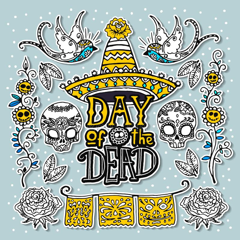 Day of the Dead design template stock illustration