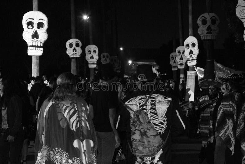 Dia de Los Muertos en de Hollywood el cementerio para siempre imágenes de archivo libres de regalías