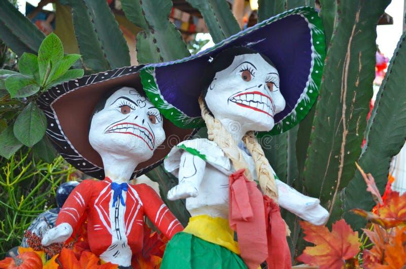 Dia de Los Muertos Figures fotografia stock