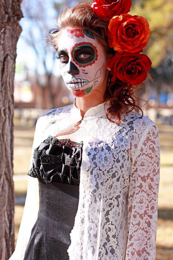 Dia DE Los Muertos Make-up stock fotografie