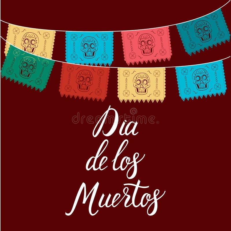 Dia de Los Muertos, Mexicaanse Dag van de Dode kaart, uitnodiging P royalty-vrije illustratie