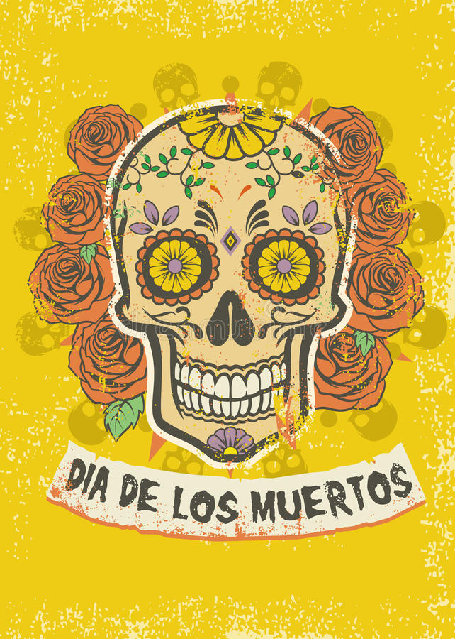 Dia De Los Muertos plakat ilustracji