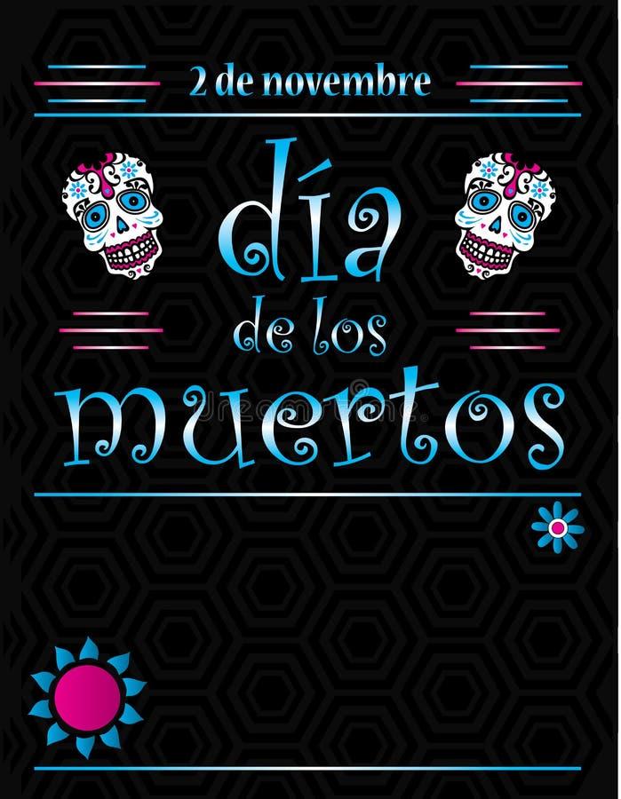 Dia De Los Muertos Plakat szablon ilustracja wektor