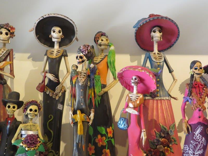 Dia DE los Muertos poppen, Santa Fe New Mexico stock afbeelding