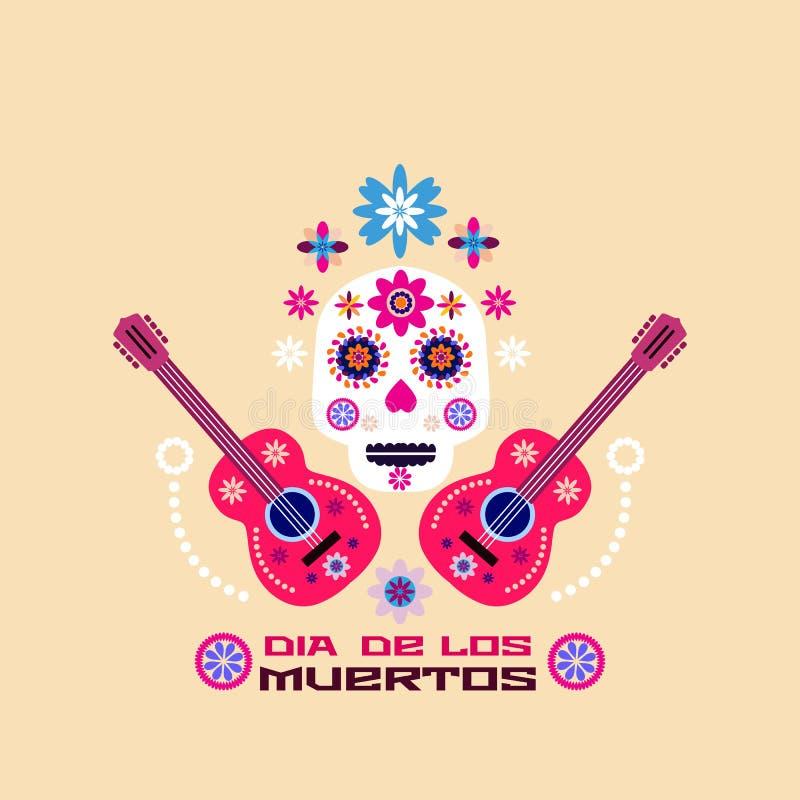 Dia de Los Muertos, Tag der Toten lizenzfreie abbildung