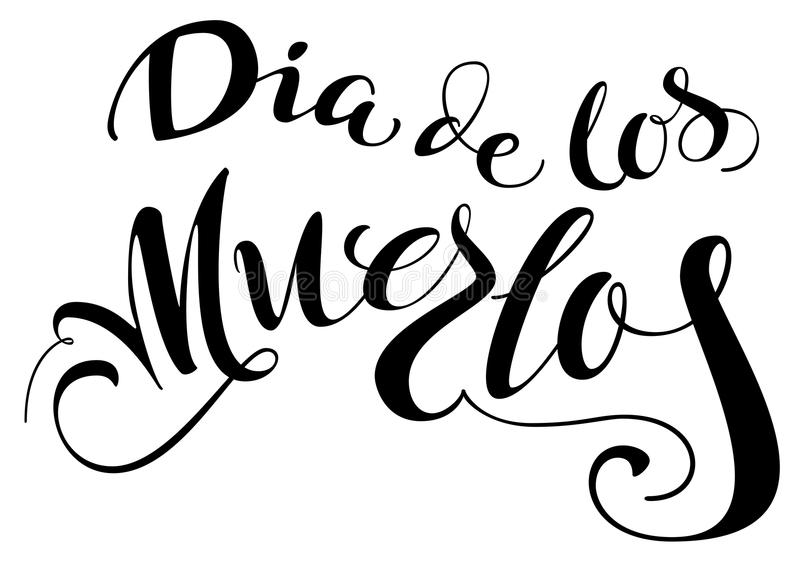 Dia de los muertos translation from spanish day of the dead stock dia de los muertos translation from spanish day of the dead lettering text for greeting card isolated on white vector illustration m4hsunfo