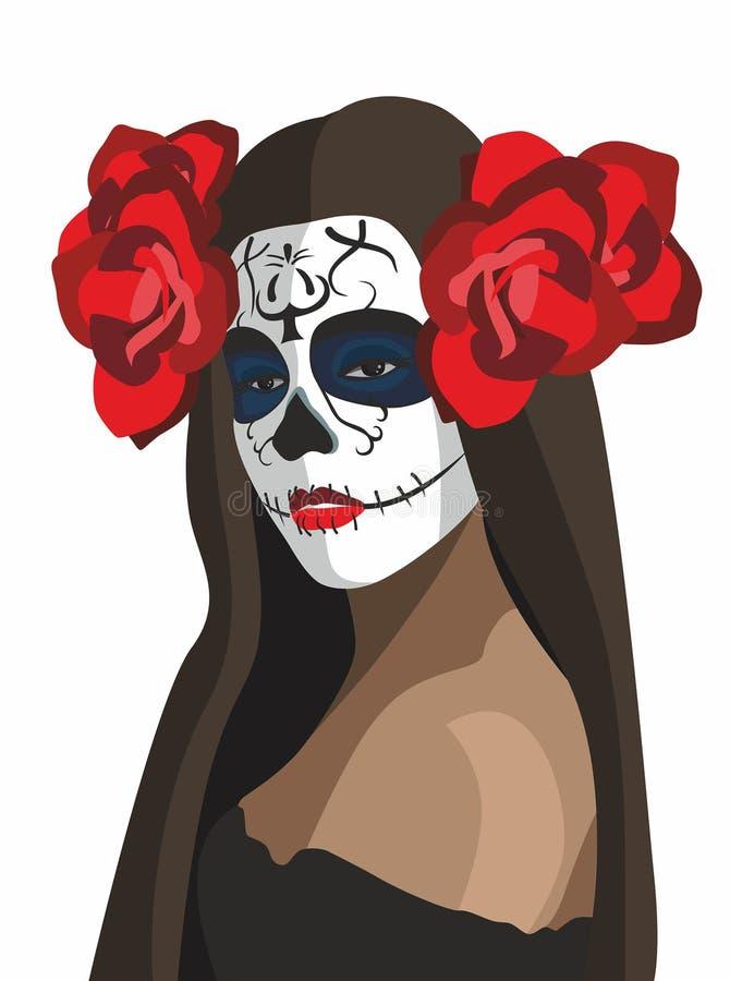 Dia de los muertost he day of the Dead vector illustration
