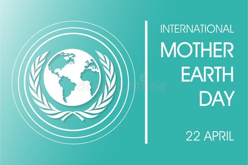Dia de Mãe Terra internacional ilustração do vetor