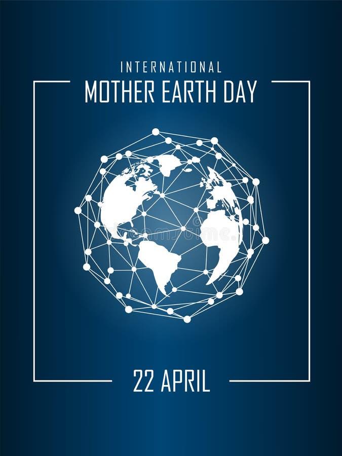 Dia de Mãe Terra internacional ilustração stock