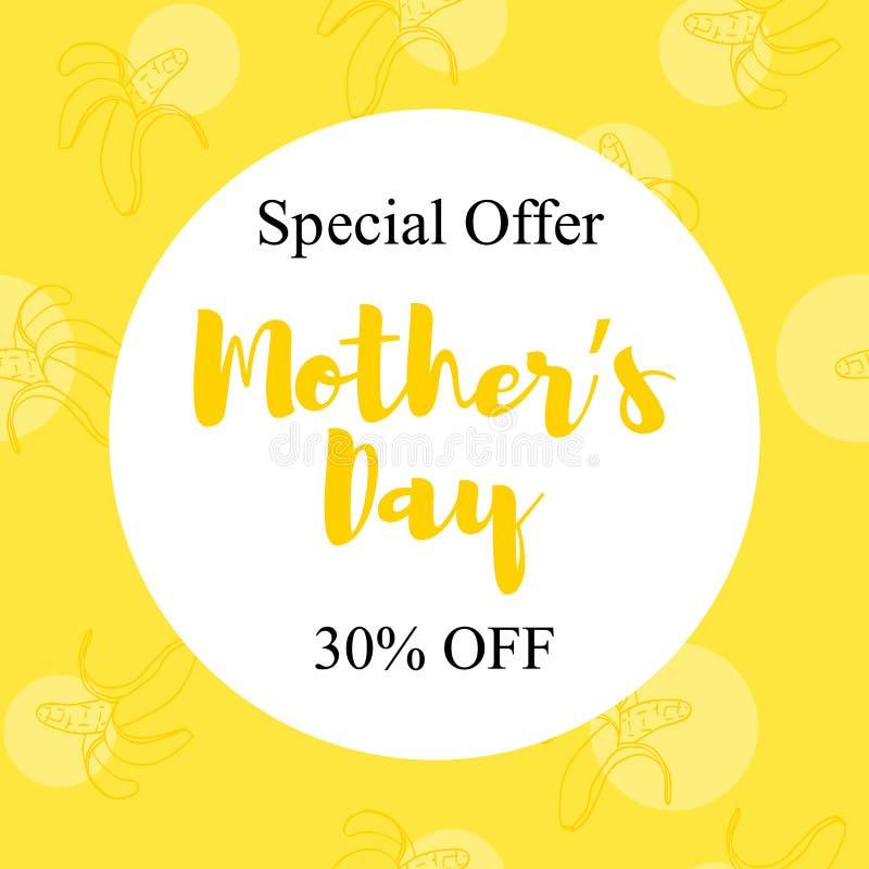 Dia de mães da oferta especial ilustração royalty free