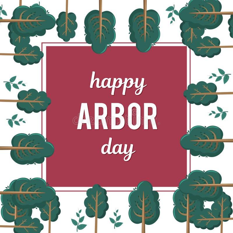 Dia de mandril Imagem de uma árvore Ilustração do vetor por um feriado Símbolo da arboricultura, florestas, agricultura espaço imagens de stock