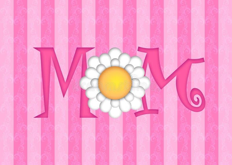 Dia de matrizes feliz com flor da margarida ilustração stock