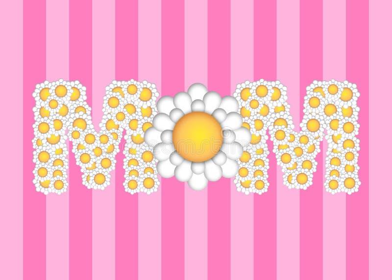 Dia de matrizes feliz com teste padrão de flores da margarida ilustração royalty free