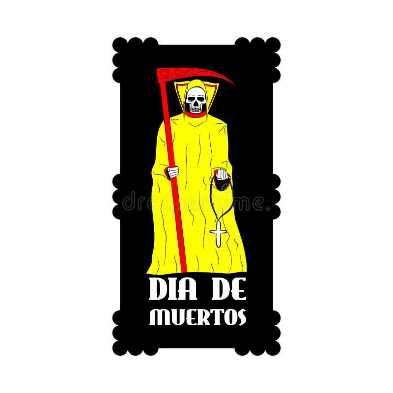 Dia de Muertos - μεξικάνικη ημέρα του θανάτου διανυσματική απεικόνιση