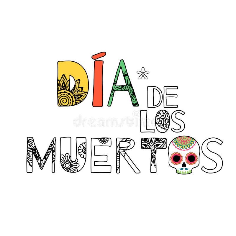 Dia De Muertos Dzień nieżywy tło ilustracja wektor
