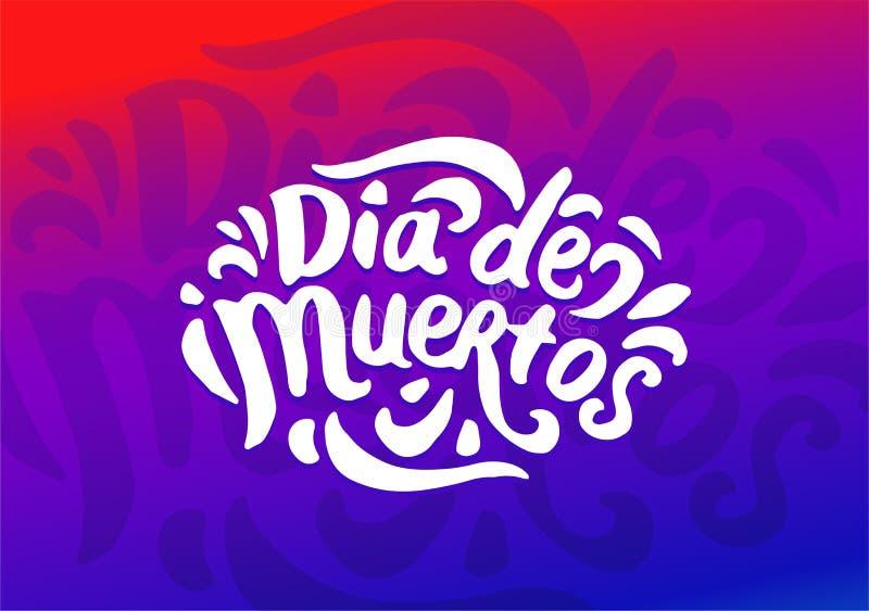 Dia De Muertos festiwalu kolorowy ilustracyjny wektor ilustracja wektor