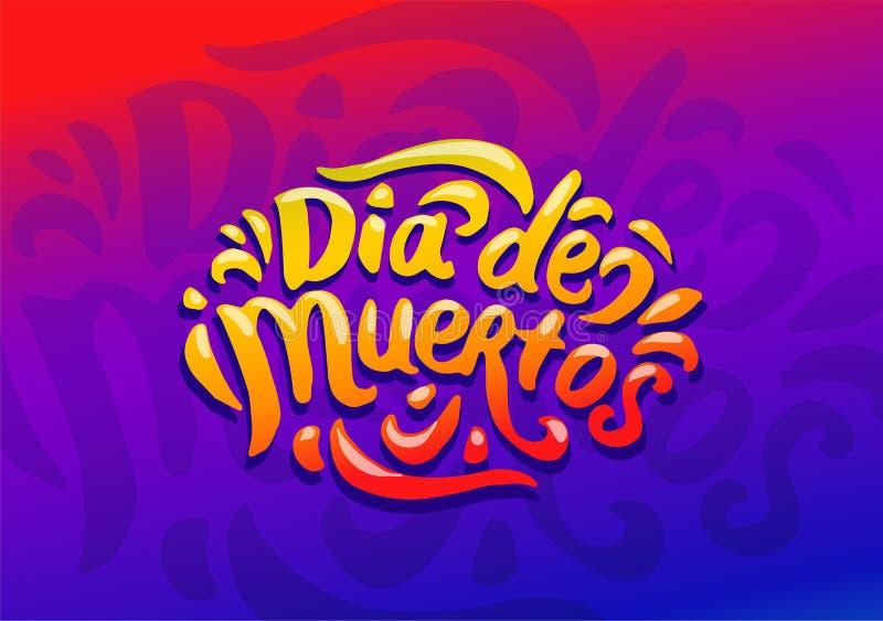 Dia De Muertos festiwalu kolorowy ilustracyjny wektor ilustracji