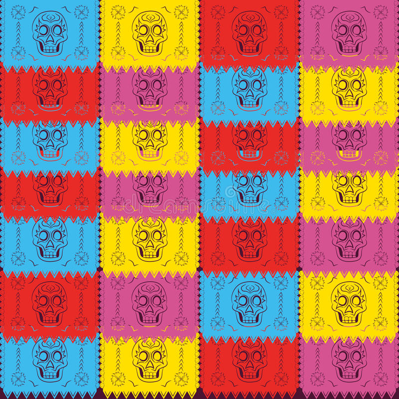 Dia de Muertos - Mexicaanse Dag van de doods Spaanse tekst decoratie vector illustratie