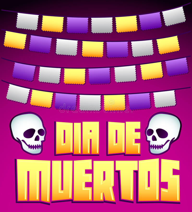 Dia de Muertos - Mexican Day of the death spanish text v. Ector decoration - lettering vector illustration