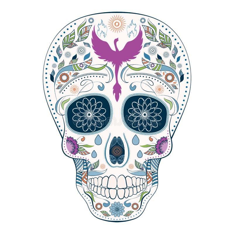 Dia De Muertos Tatuujący czaszki Ozdobny dzień nieboszczyk obrazy stock