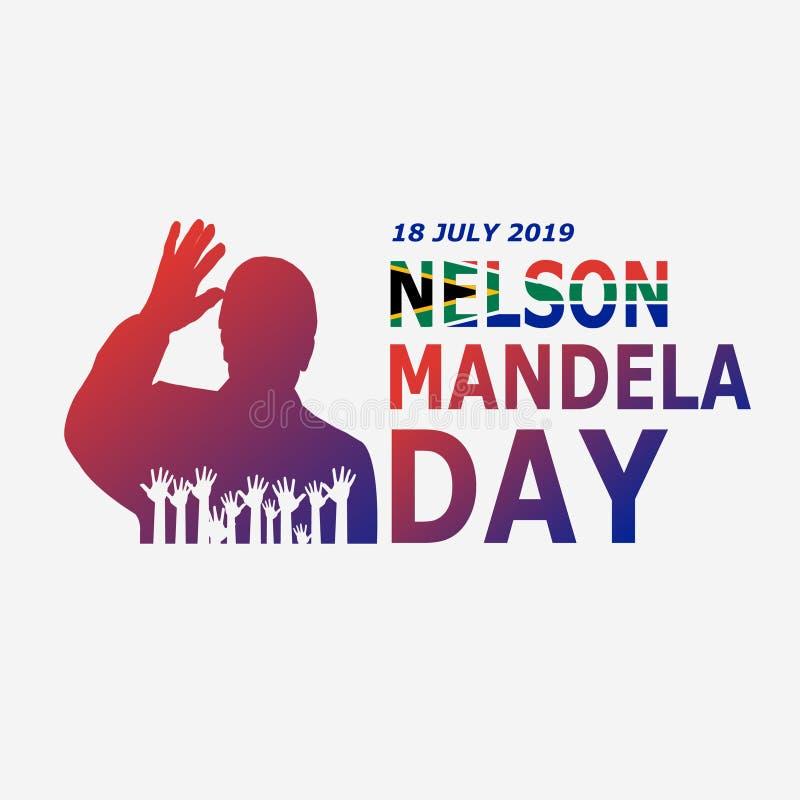 Dia 2019 de Nelson Mandela ilustração do vetor