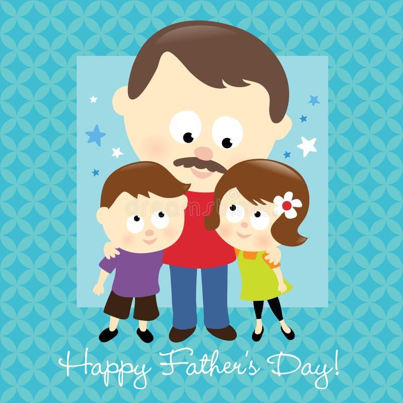 Dia de pai feliz 2 ilustração do vetor