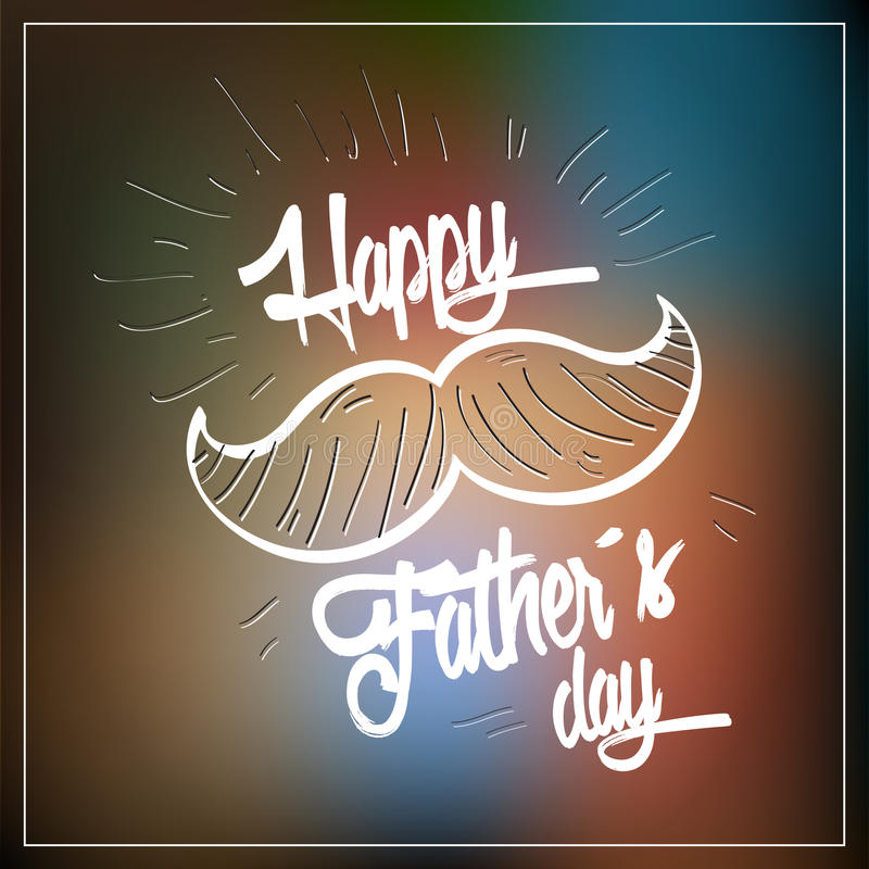 Dia de pai feliz ilustração do vetor